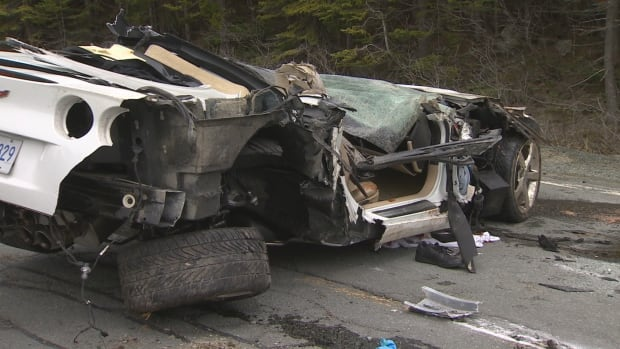 The Corvette went out of control and rolled as it was heading into Shea Heights on the Cape Spear road.