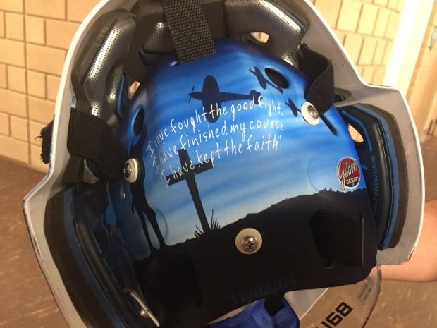 Michael DiPietro Memorial Cup helmet