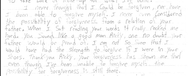 Ricky Strongquill letter