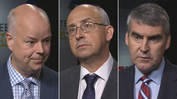 Tory Leader Jamie Baillie, NDP Leader Gary Burrill and Liberal Leader Stephen McNeil participated in a leaders debate Thursday on CBC.