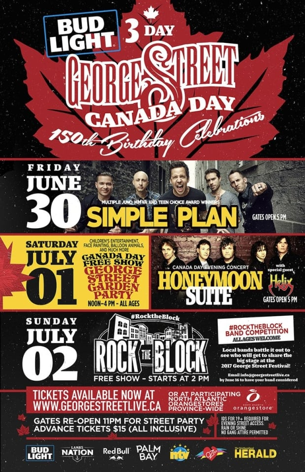 Canada Day George Street poster 2017