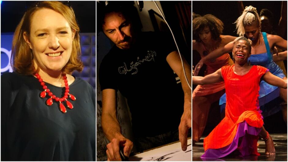 Today on q: author Paula Hawkins, visual artist Kevork Mourad and playwright Djanet Sears.