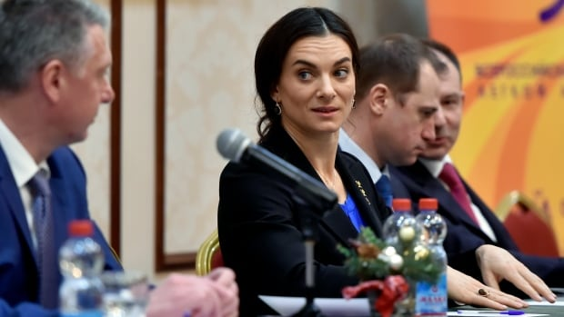 Former pole vaulter and two-time Olympic champion Yelena Isinbayeva cannot continue as chair of the Russian Anti-Doping Agency due to a conflict of interest.