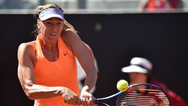 Maria Sharapova played recently at the Italian Open, but was forced to retire due to an apparent leg injury.