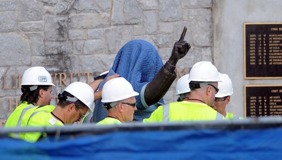 APTOPIX Penn State Abuse Statue
