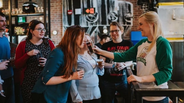 Kayla Walters, right, has been teaching English literature for the past seven years, and plans to draw on those skills in the classroom to teach people about beer tasting, the brewing process and the history and culture of Newfoundland.
