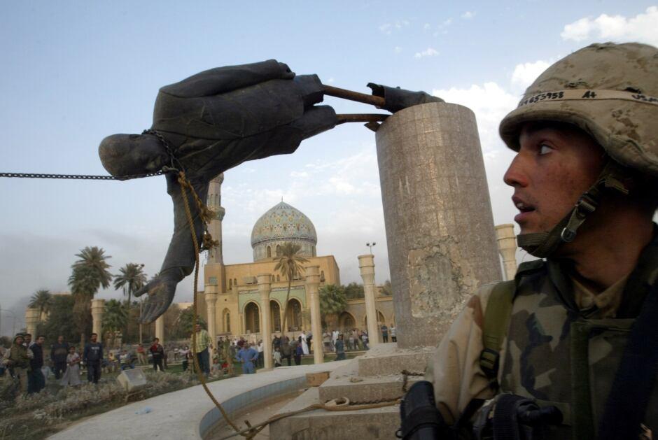 BRITAIN-IRAQ/INQUIRY-STATUE