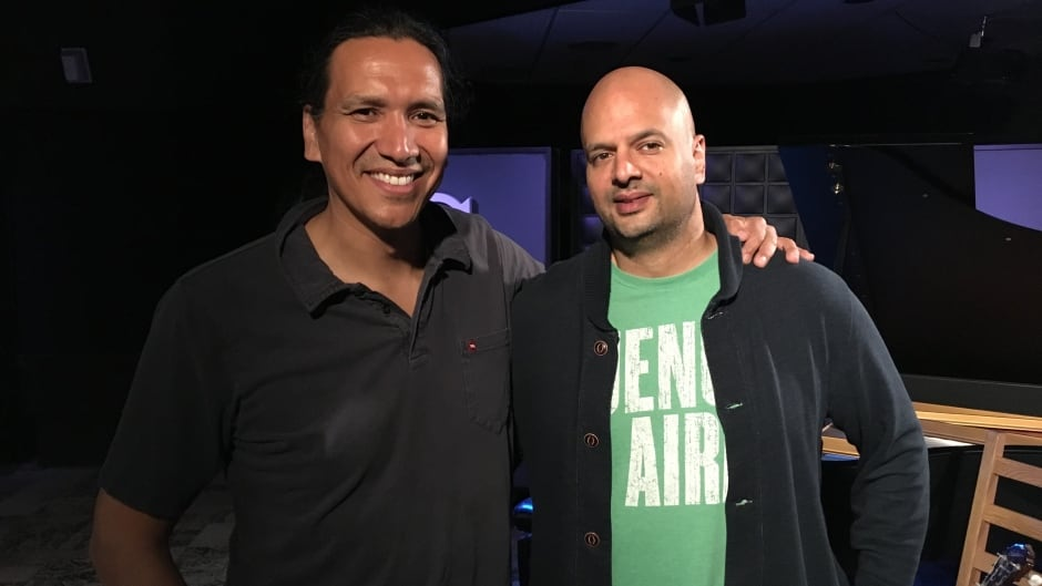 Michael Greyeyes with Ali Hassan in the q studios in Toronto, Ont.