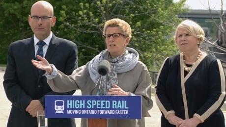 Wynne high speed rail announcement