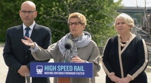 Wynne high speed rail announcement