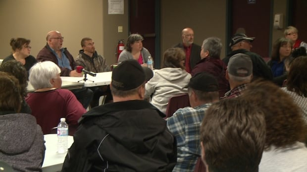 Labrador MP Yvonne Jones and Lake Melville MHA Perry Trimper met with the community Friday morning to address concerns and try to answer questions.