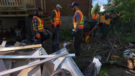 Laval flood clean up