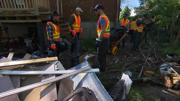 Laval flood clean up