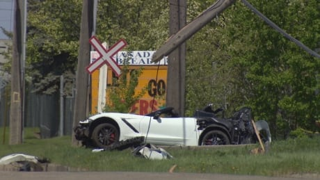 Corvette crash Edmonton