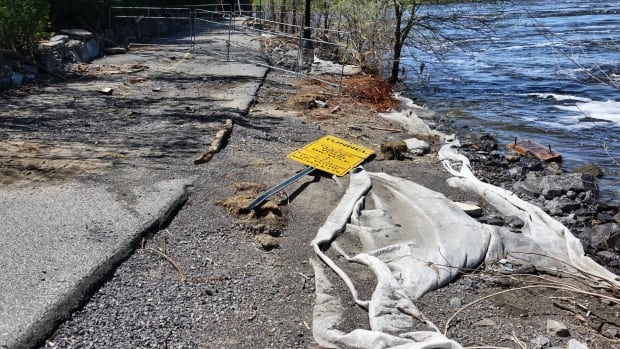 The National Capital Commission is asking people to respect signage and blockades for paths that are closed in Ottawa and Gatineau due to flood damage.