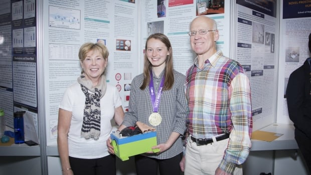 Nora Boone won the $1,000 and gold medal prize at the Youth Can Innovate awards.