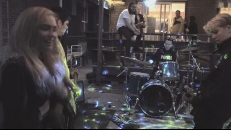 Police go to Ont. party to pull the plug on the tunes, end up jamming on the drums