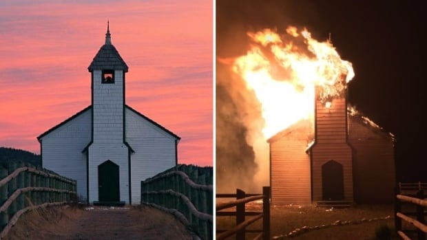 The McDougall Stoney Mission Church, the oldest permanent Protestant church in southern Alberta, was destroyed by fire on May 22.