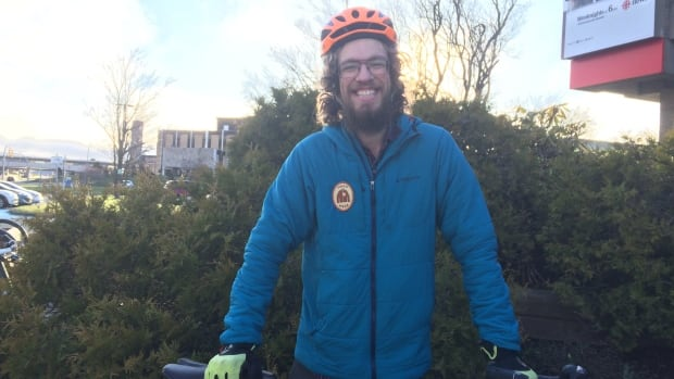 Cyclist Brad Wade will soon depart New York City for a cross-country ride with an environmental group called Green Riders.