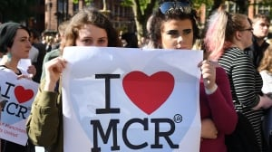 'We are the many, they are the few': Manchester vigil for attack victims