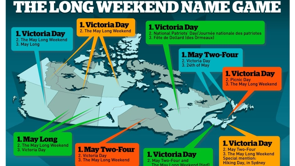 The 180 surveyed Canadians to find out what they call the long weekend in May.