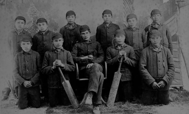 Students of the Battleford Industrial School.