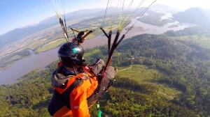 Paragliding over Harrison Mills