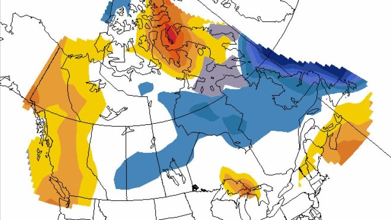 Canada Weather Map Temperature.Temperatures To Teeter Totter Across Canada This Summer Cbc News