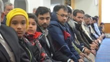 muslims pray at St. John's mosque