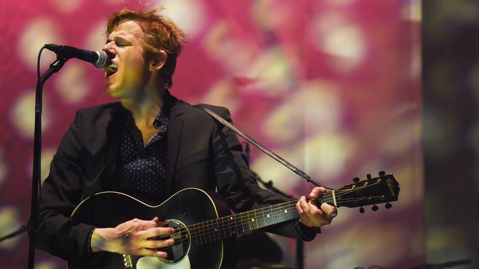 Guitarist/vocalist Britt Daniel of Spoon performs during the 2015 SXSW Music, Film + Interactive Festival at Auditorium Shores on March 19, 2015 in Austin, Texas.