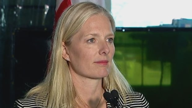 Environment and Climate Change Minister Catherine McKenna speaks in Calgary about new methane regulations on the oil and gas industry that are to be phased in between 2020 and 2023.
