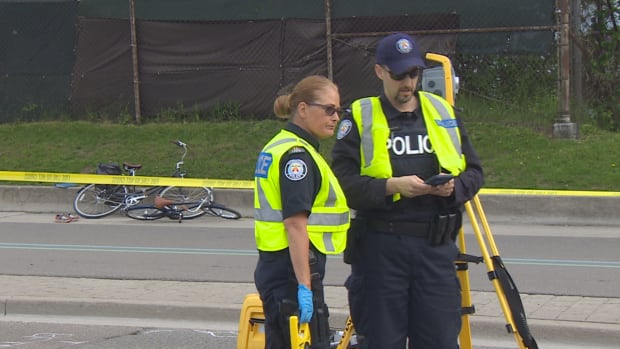 Police continue to investigate after a five-year-old boy was struck and killed Wendesday evening while riding his bicycle along Lake Shore Boulevard.