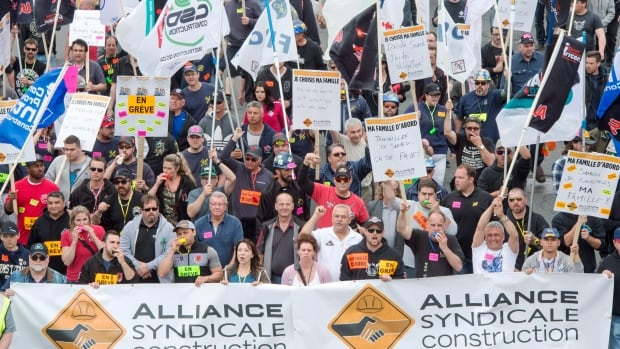 Back to work bill expected today in Quebec construction strike