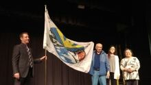 Moose Jaw Treaty 4 flag raising