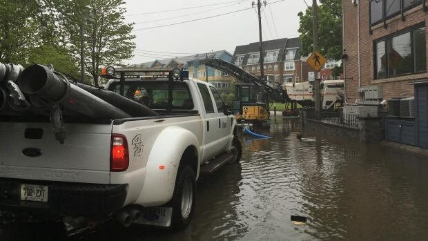 Residents on Kew Beach Avenue are having a pretty wet spring thus far.
