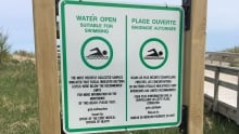 Water quality sign parlee