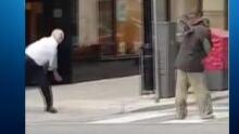 Homeless shoe throwing