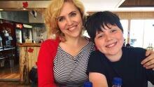 Willow Yamauchi and her nephew Dash