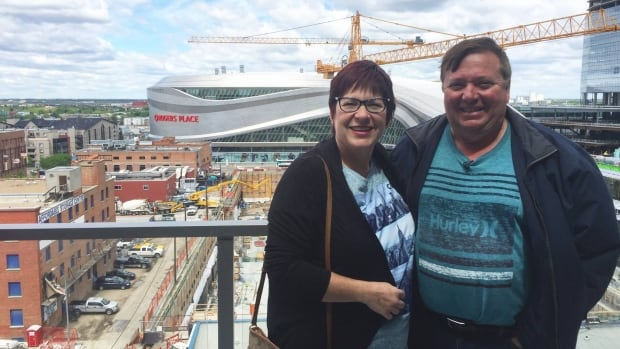 Micheal Marchand and his wife Sylvie, who lost their home the Fort McMurray wildfire,  took a tour of their new condo in downtown Edmonton on Thursday.