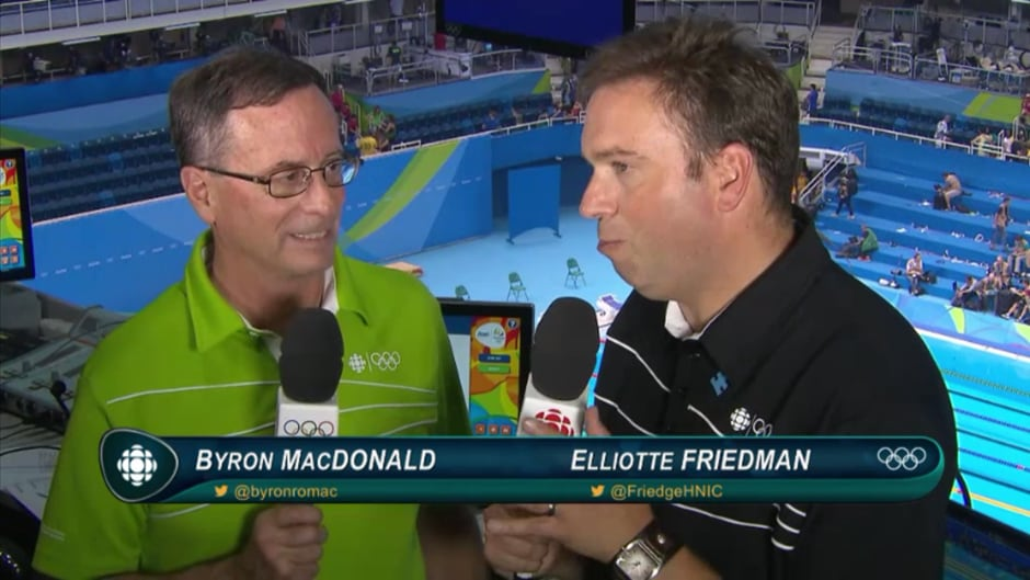 Elliotte Friedman faced a social media firestorm after making the wrong call in the Men's 200m individual medley at the 2016 Olympics in Rio.