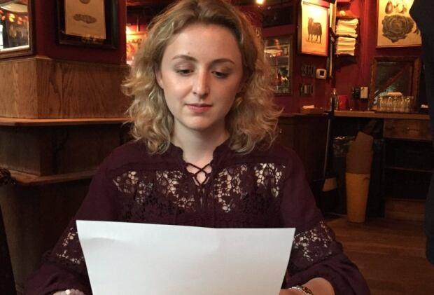 Hannah Lank restaurant allergies