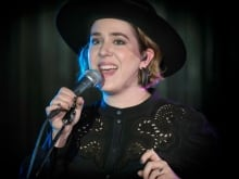 Land of Talk's Elizabeth Powell performs in studio q