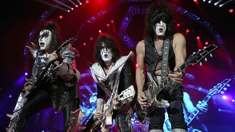 From Left To Right Gene Simmons Tommy Thayer And Paul Stanley Of Kiss Are Shown At An Oct 3 2015 Concert In Perth Australia