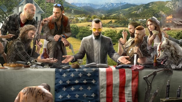 Promotional art for Ubisoft's upcoming game Far Cry 5.