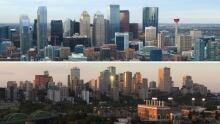 Calgary and Edmonton Skyline