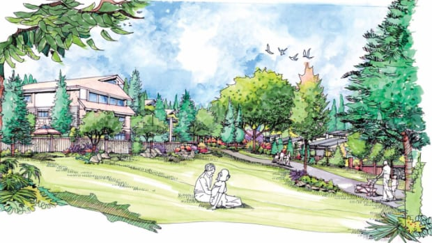 A rendering of a proposed development at the Coyote Creek golf course in Surrey.