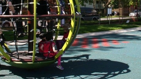 Victoria playground opens at site of former tent city