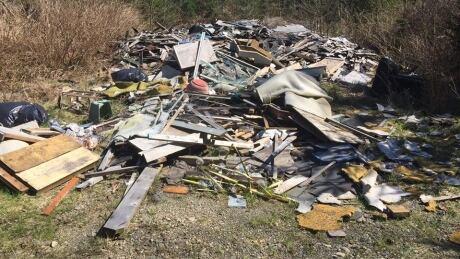 Illegal dump site Comox Valley