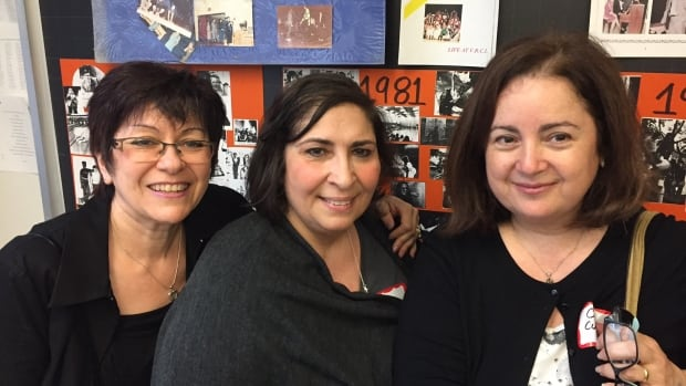 Maria Gabriela Bluestein, Franca Tropea and Carm Cucunato make one last visit to their high school after graduating in 1981.