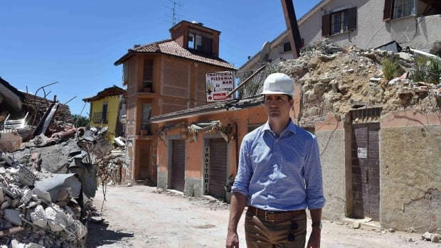 On Sunday, Prime Minister Justin Trudeau takes a tour of Amatrice, the central Italian town brought to rubble by an August 2016 earthquake that killed nearly 300 people.